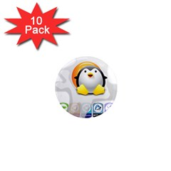 LINUX VERSIONS 1  Mini Button Magnet (10 pack)
