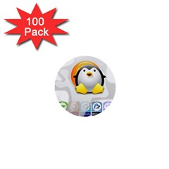 LINUX VERSIONS 1  Mini Button (100 pack)