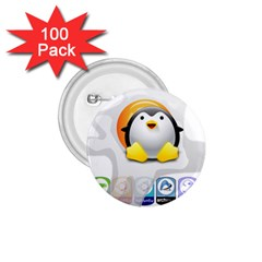 Linux Versions 1 75  Button (100 Pack)