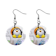 Linux Versions Mini Button Earrings