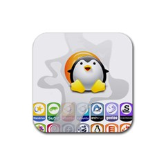 Linux Versions Drink Coasters 4 Pack (square)