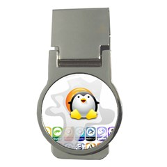 LINUX VERSIONS Money Clip (Round)