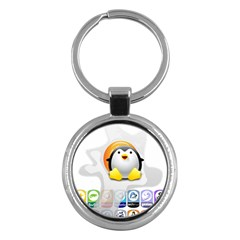 Linux Versions Key Chain (round)