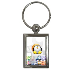 LINUX VERSIONS Key Chain (Rectangle)