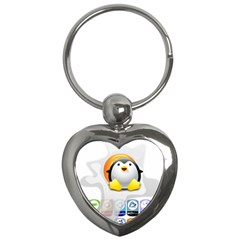 LINUX VERSIONS Key Chain (Heart)