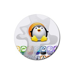 Linux Versions Drink Coasters 4 Pack (round)