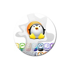 LINUX VERSIONS Magnet 3  (Round)