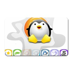 LINUX VERSIONS Magnet (Rectangular)