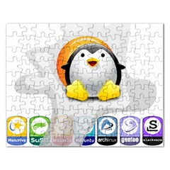 LINUX VERSIONS Jigsaw Puzzle (Rectangle)