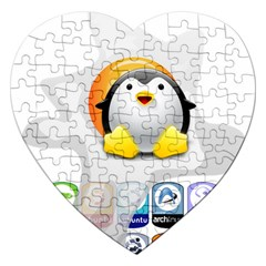 LINUX VERSIONS Jigsaw Puzzle (Heart)