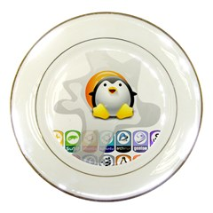 LINUX VERSIONS Porcelain Display Plate