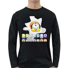 LINUX VERSIONS Mens' Long Sleeve T-shirt (Dark Colored)