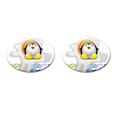 LINUX VERSIONS Cufflinks (Oval)