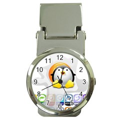 Linux Versions Money Clip With Watch