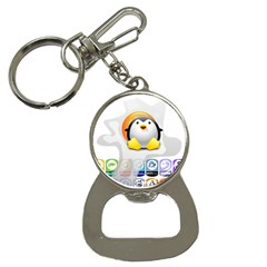 LINUX VERSIONS Bottle Opener Key Chain