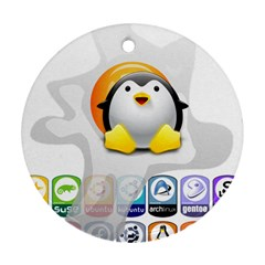 Linux Versions Round Ornament (two Sides)