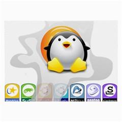 Linux Versions Glasses Cloth (large)