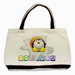 LINUX VERSIONS Twin-sided Black Tote Bag