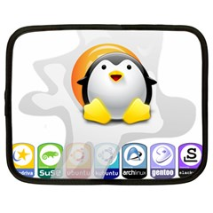 LINUX VERSIONS Netbook Sleeve (Large)