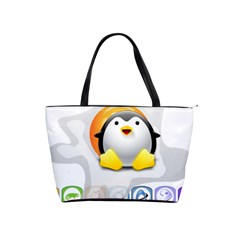 Linux Versions Large Shoulder Bag