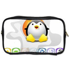 LINUX VERSIONS Travel Toiletry Bag (One Side)