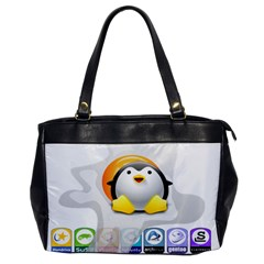 Linux Versions Oversize Office Handbag (one Side)