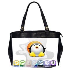 LINUX VERSIONS Oversize Office Handbag (Two Sides)