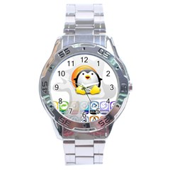 LINUX VERSIONS Stainless Steel Watch