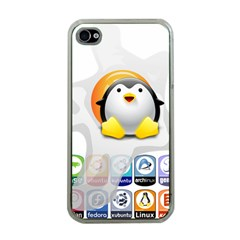 LINUX VERSIONS Apple iPhone 4 Case (Clear)