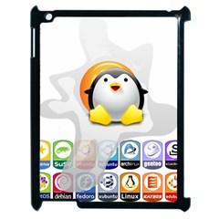 LINUX VERSIONS Apple iPad 2 Case (Black)
