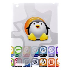 LINUX VERSIONS Apple iPad 3/4 Hardshell Case (Compatible with Smart Cover)