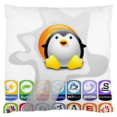 LINUX VERSIONS Large Cushion Case (Single Sided)