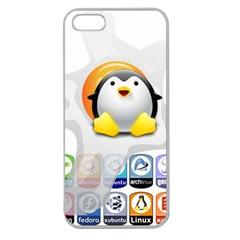 LINUX VERSIONS Apple Seamless iPhone 5 Case (Clear)