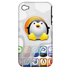 Linux Versions Apple Iphone 4/4s Hardshell Case (pc+silicone)