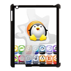 LINUX VERSIONS Apple iPad 3/4 Case (Black)