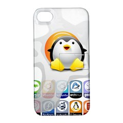 LINUX VERSIONS Apple iPhone 4/4S Hardshell Case with Stand