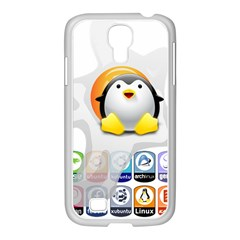 LINUX VERSIONS Samsung GALAXY S4 I9500/ I9505 Case (White)