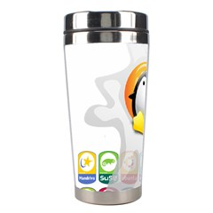 LINUX VERSIONS Stainless Steel Travel Tumbler