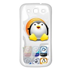 LINUX VERSIONS Samsung Galaxy S3 Back Case (White)