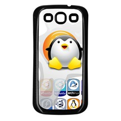 LINUX VERSIONS Samsung Galaxy S3 Back Case (Black)