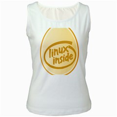LINUX INSIDE EGG Womens  Tank Top (White)