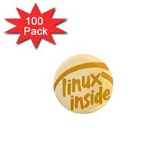 LINUX INSIDE EGG 1  Mini Button Magnet (100 pack)