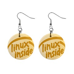 LINUX INSIDE EGG Mini Button Earrings