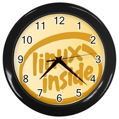 LINUX INSIDE EGG Wall Clock (Black)