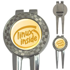 LINUX INSIDE EGG Golf Pitchfork & Ball Marker