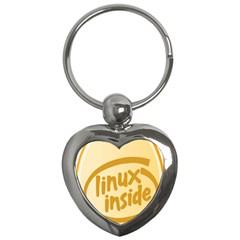 LINUX INSIDE EGG Key Chain (Heart)