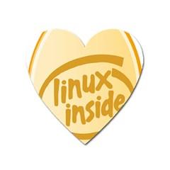 Linux Inside Egg Magnet (heart)