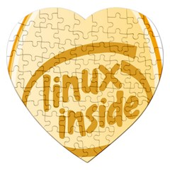 Linux Inside Egg Jigsaw Puzzle (heart)