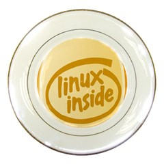 LINUX INSIDE EGG Porcelain Display Plate
