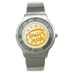 LINUX INSIDE EGG Stainless Steel Watch (Slim)